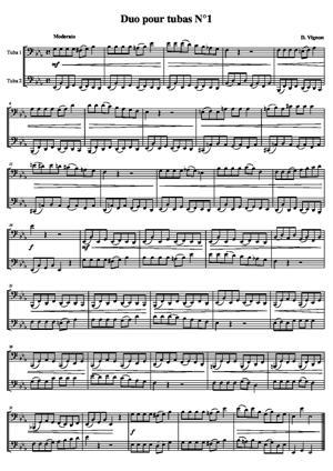 Sheet Music Duo  for tubas No. 1