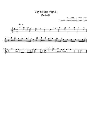 Sheet Music Lowell Mason (1792–1872) - Joy to the World