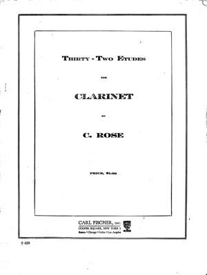 Sheet Music 32 Etudes for Clarinet