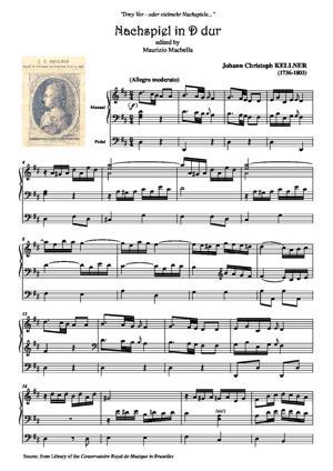 Sheet Music Nachspiel in D_dur (Source: Bibliothèque Conservatoire de Bruxelles)