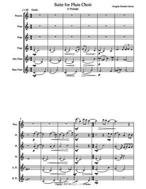 Sheet Music Suite for Flute Choir