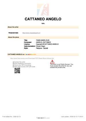 Sheet Music PANIS ANGELICUS