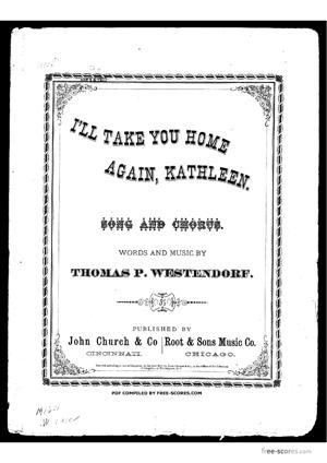 Sheet Music I'll take you home again Kathleen