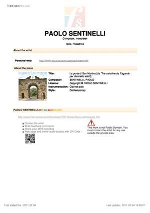 Sheet Music La porta di San Martino