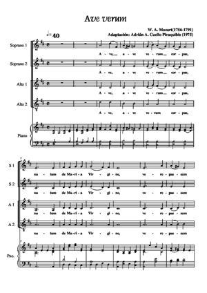 Sheet Music Ave Verum