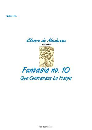 Sheet Music Fantasia No. 10