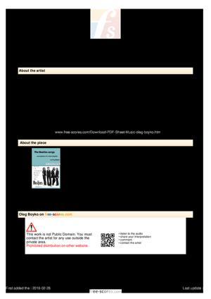 Sheet Music The Beatles Songs