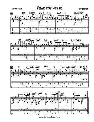 Sheet Music Please stay with me