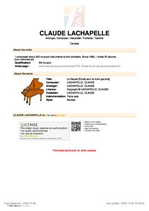 Sheet Music La fileuse