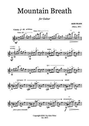 Sheet Music Mountain Breath