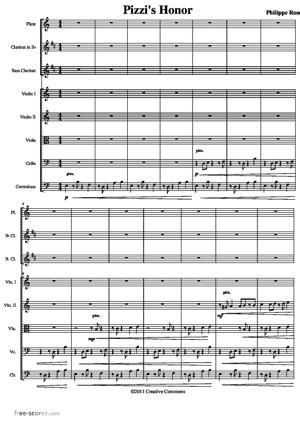 Sheet Music Pizzi's Honor