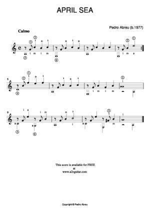 Sheet Music April Sea