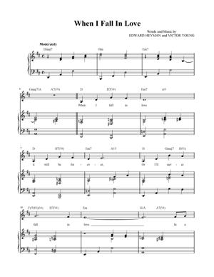 Sheet Music Celine Dion ft. Clive Griffin - When I Fall In Love