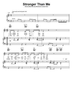 Sheet Music Amy Winehouse - Stronger Than Me