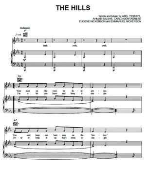 Sheet Music The Weeknd - The Hills