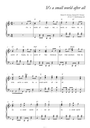 Sheet Music It's a small world