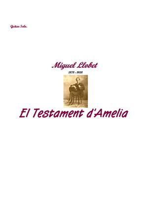Sheet Music El Testament d'Amelia