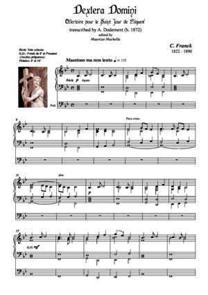 Sheet Music Dextera Domini -Offertoire pour le Saint Jour de Pâques-
