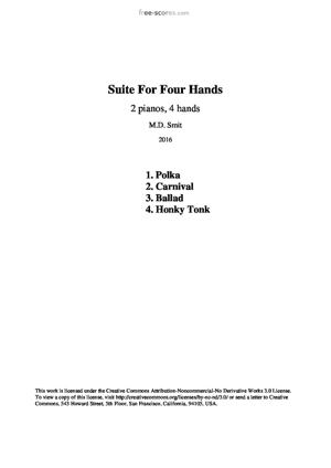 Sheet Music Suite for four hands (2 pianos). Complete