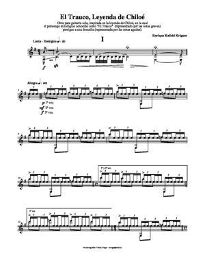 Sheet Music El Trauco, Leyenda de Chiloé