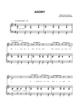 Sheet Music Into The Woods - Agony