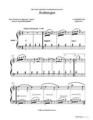 Sheet Music Arabasque