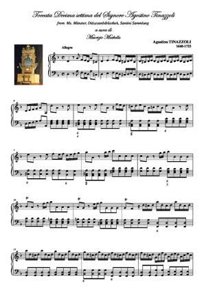 Sheet Music Toccata Decima settima del Signore Agostino Tinazzoli