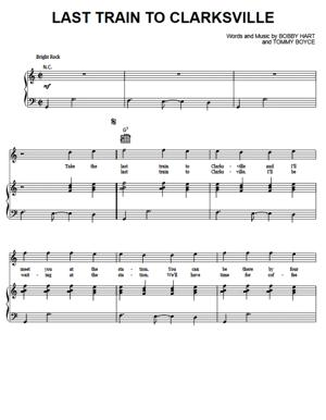 Sheet Music The Monkees - Last Train To Clarksville