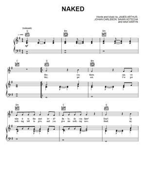Sheet Music James Arthur - Naked