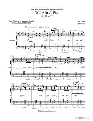 Sheet Music Waltz in A Flat