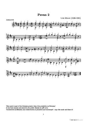 Sheet Music Pavan 2
