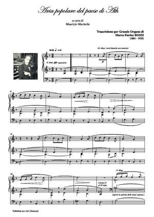 Sheet Music ARIA POPOLARE DEL PAESE DI ATH (Volkslied aus Ath)