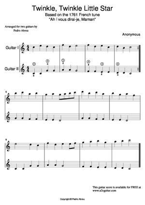 Sheet Music Twinkle, Twinkle Little Star
