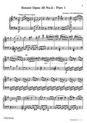 Sheet Music Sonata No. 20 (1st Movement: Allegro ma non troppo)