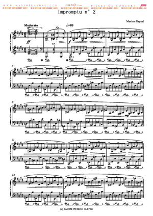 Sheet Music Impromptu n°2