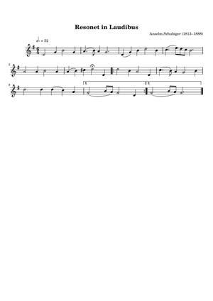Sheet Music Anselm Schubiger (1815–1888) - Resonet in Laudibus
