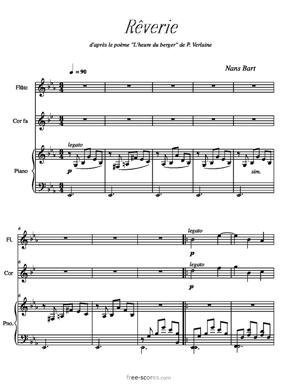 Sheet Music Rêverie