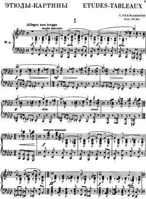 Sheet Music Etudes-tableaux (complete  8 pieces)