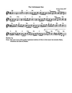 Sheet Music The Unfortunate Hoe