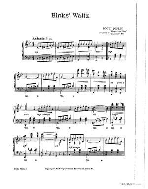 Sheet Music Binks' Waltz
