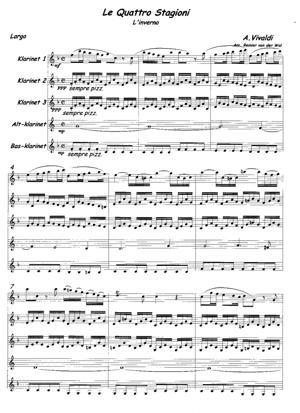 Sheet Music Le Quattro Stagioni: L'inverno