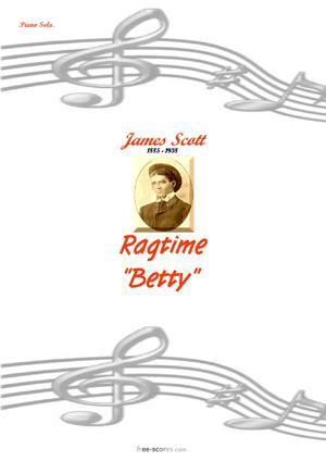 Sheet Music Ragtime Betty