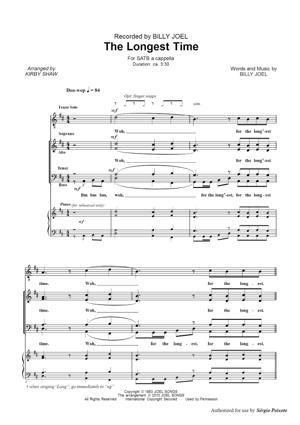 Sheet Music Billy Joel - The Longest Time