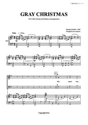 Sheet Music Gray Christmas
