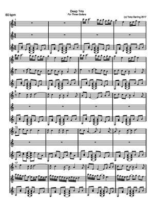 Sheet Music Deep Trio
