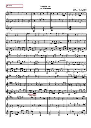 Sheet Music Solstice Trio