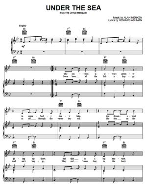Sheet Music from The Little Mermaid - Under The Sea