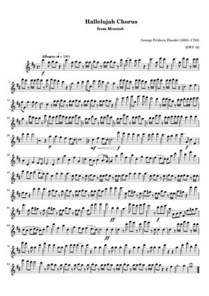 Sheet Music George Frideric Handel - Hallelujah Chorus