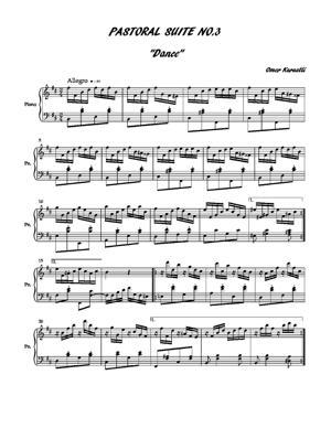 Sheet Music Pastoral suite no.3 (dance I)