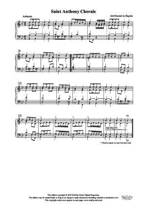 Sheet Music St. Anthony Chorale